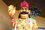 ലുലു മാളിൽ ഹരിത മാവേലിയുടെ ഭീമൻ പ്രതിമ